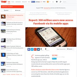 300m Users Access Facebook Via Its Mobile Apps
