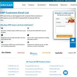 ERP Users Email List - List of Companies using ERP Software