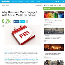 Why Users Are More Engaged With Social Media on Fridays