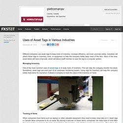 Uses of Asset Tags in Various Industries