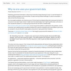 Why no one uses your government data » Ben Balter