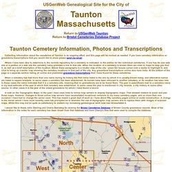 USGenWeb Taunton, MA Cemeteries