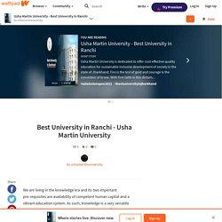 Best University in Ranchi - Usha Martin University