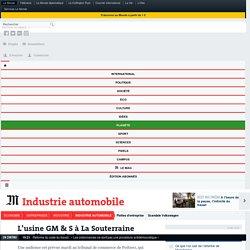 L'usine GM &S à LaSouterraine est-elle sauvée?