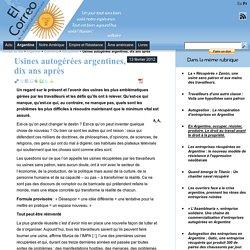 Usines autogérées argentines, dix ans après