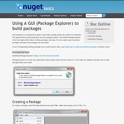Using A Gui To Build Packages