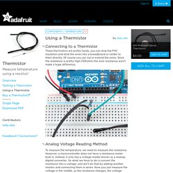 Using a Thermistor