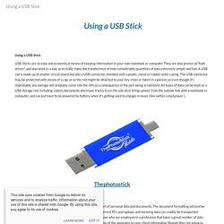 Using a USB Stick
