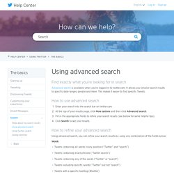 How to Use Advanced Twitter Search