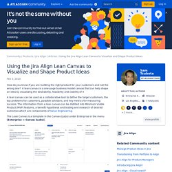Using the Jira Align Lean Canvas to Visualize and ...