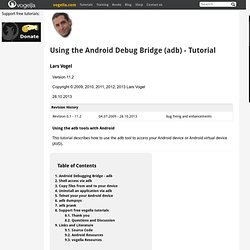 Using the Android Debug Bridge (adb)