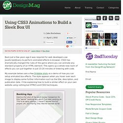 Using CSS3 Animations to Build a Sleek Box UI