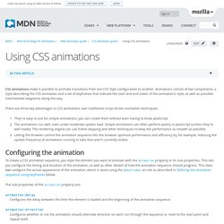Using CSS animations - Web developer guide