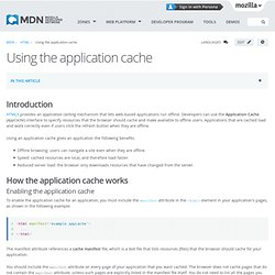 Using the application cache - HTML