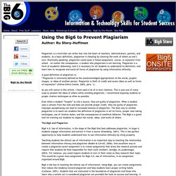 Using the Big6 to Prevent Plagiarism