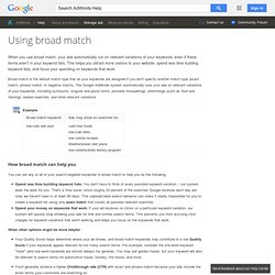 What is broad match? - AdWords Help