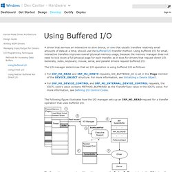 Using Buffered I/O (Windows Driver Kit)