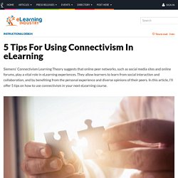 5 Tips For Using Connectivism In eLearning