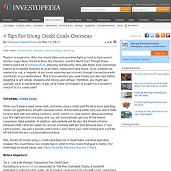 4 Tips For Using Credit Cards Overseas