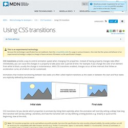Using CSS transitions