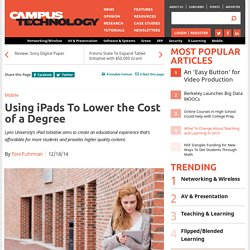 Using iPads to Lower the Cost of a Degree