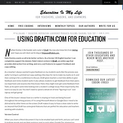 Using Draftin.com for Education