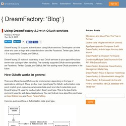 Using DreamFactory 2.0 with OAuth services