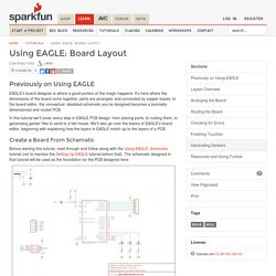 Using EAGLE: Board Layout