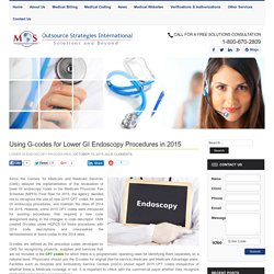 Using G-codes for Lower GI Endoscopy Procedures in 2015
