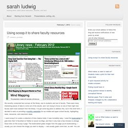 Scoop.it to share faculty resources - Sarah Ludwig