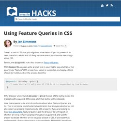 Using Feature Queries in CSS
