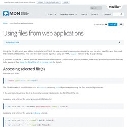Using files from web applications