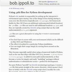 Using .pth files for Python development