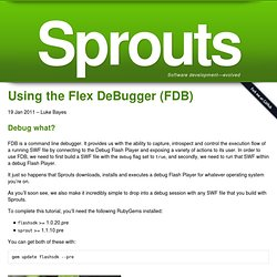 Using the Flex DeBugger (FDB)