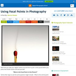 Using Focal Points in Photography