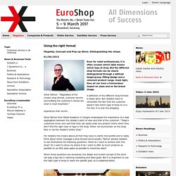 EuroShop - World´s No. 1 Retail Trade Fair - Next event: March 5-9 2017