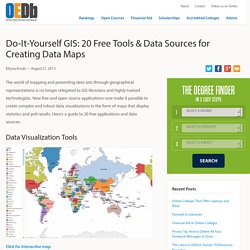 Do-It-Yourself GIS: 20 Free Tools & Data Sources for Creating Data Maps