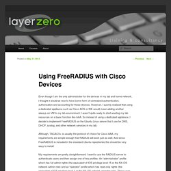 Using FreeRADIUS with Cisco Devices