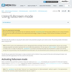 Using fullscreen mode - Document Object Model (DOM)