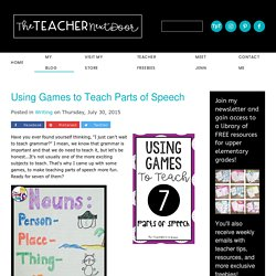 Using Games to Teach Parts of Speech