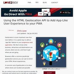 Using the Geolocation API in your Progressive Web App