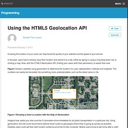 Using the HTML5 Geolocation API