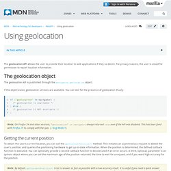 Using geolocation