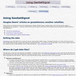 Using the GeoSatSignal program