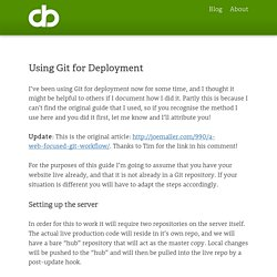Using Git for Deployment - Dan Barber