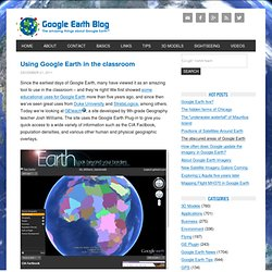 Using Google Earth in the classroom