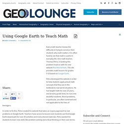 Using Google Earth to Teach Math