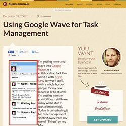 Using Google Wave for Task Management - Flock