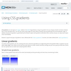 Using CSS gradients - Web developer guide