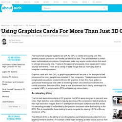 Using Graphics Cards for More Than Just 3D Graphics